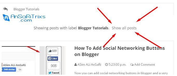 How To Change Blogger Labels Page