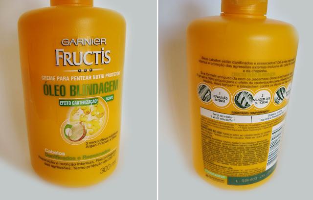 Creme Para Pentear Garnier Fructis Óleo Blindagem