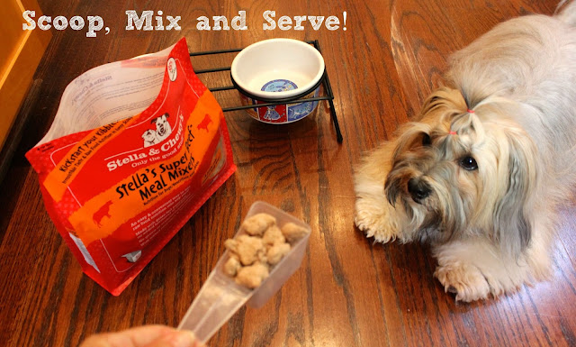 Stella & Chewy's raw pet food freeze dried Meal Mixers easy to serve