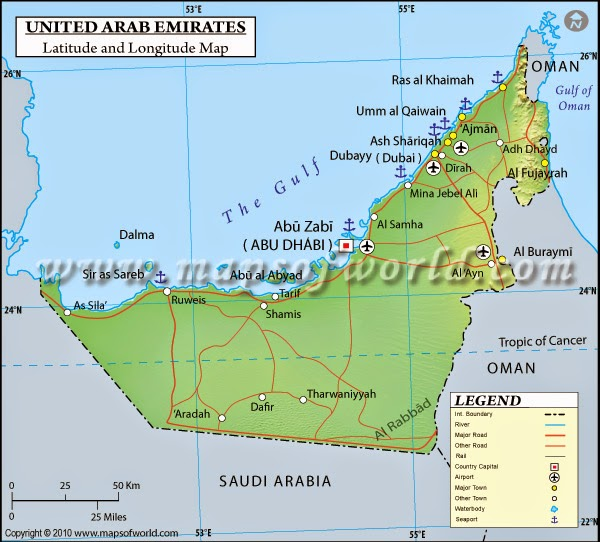Blog number 1 – Geographical Map of Uae