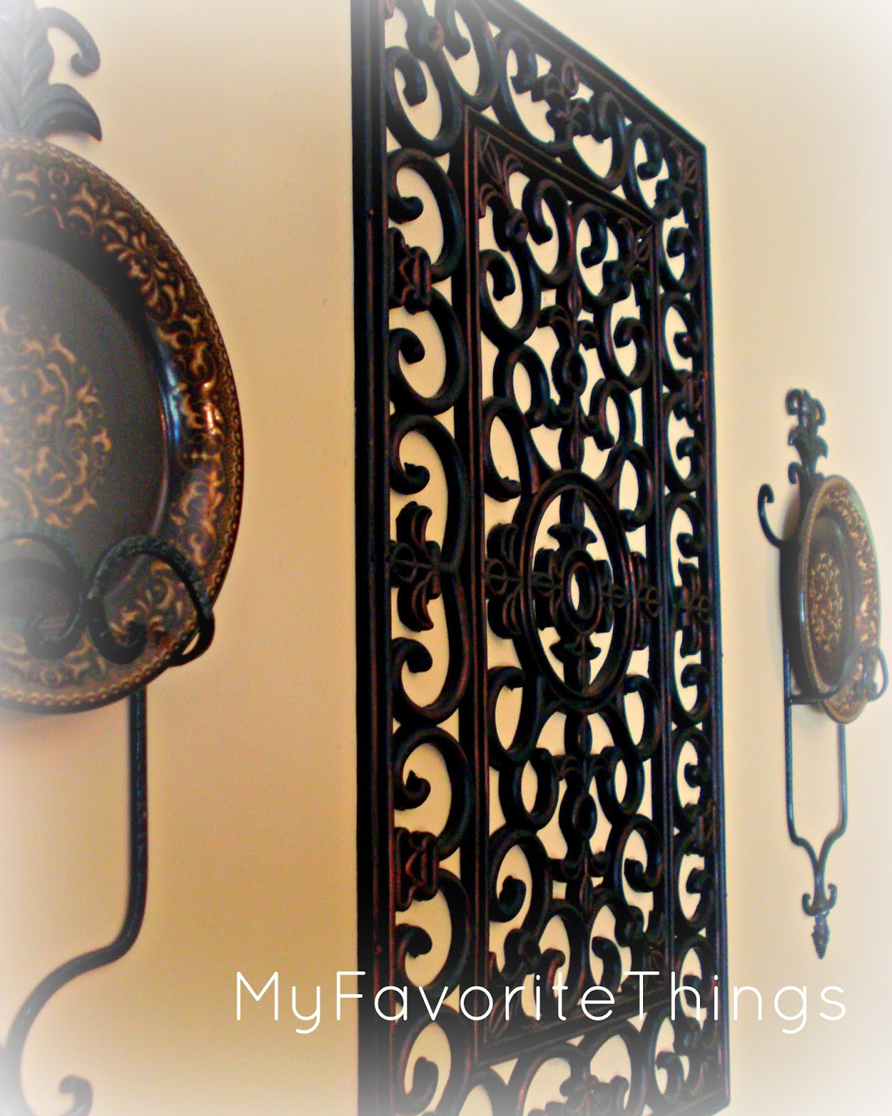 my favorite things wrought iron wall art. Black Bedroom Furniture Sets. Home Design Ideas
