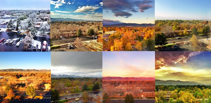 Seasons changing in Fort Collins Colorado from the Hilton hotel.