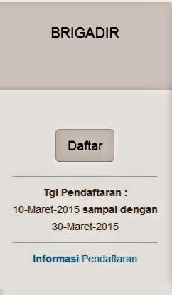 Pendaftaran POLRI MARET 2015 Brigadir
