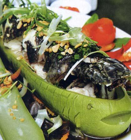 Kết quả hình ảnh cho cá lóc hấp bầu