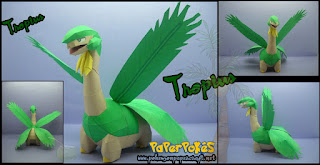 Pokemon Tropius Papercraft free download