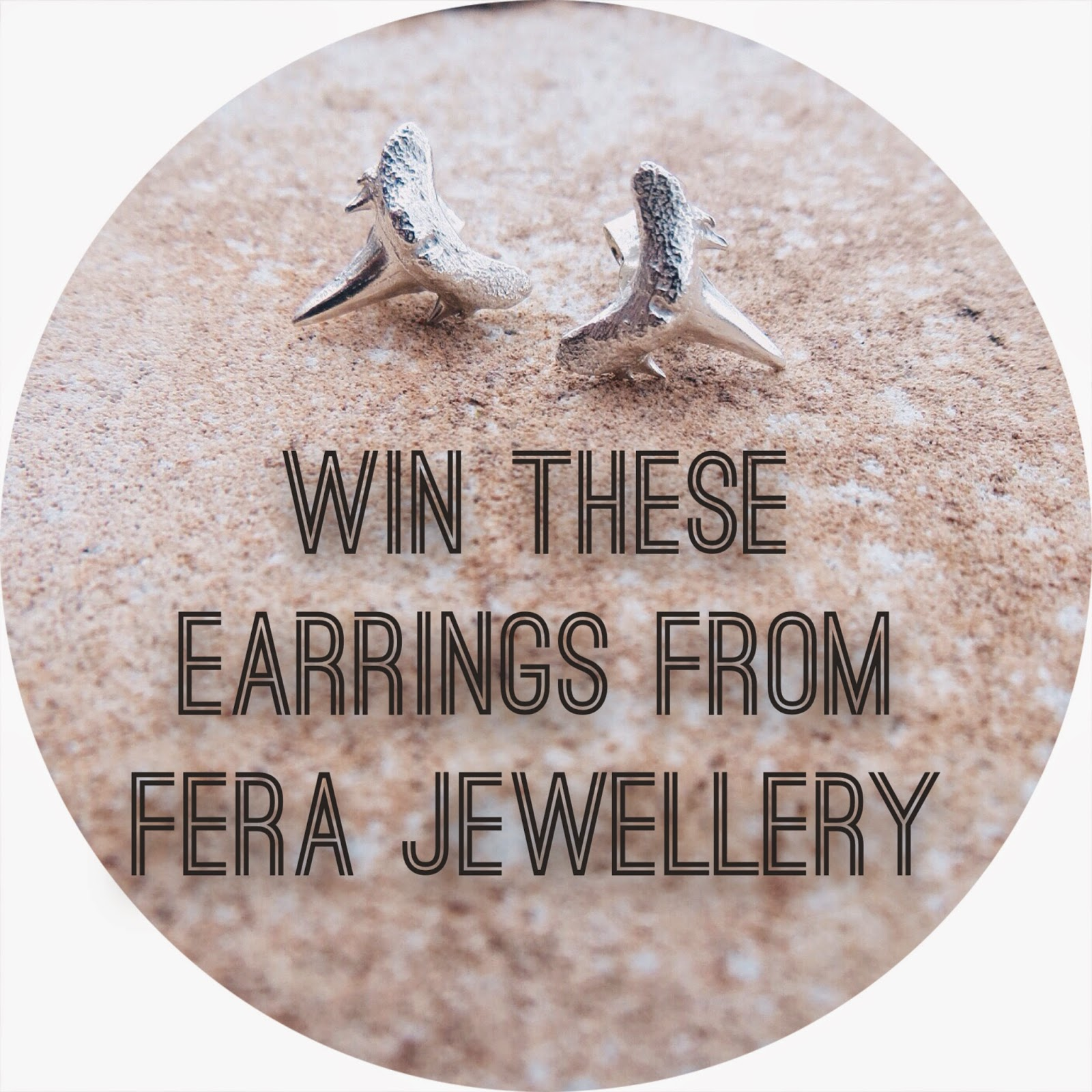 fera jewellery, shark tooth, shark tooth earrings, freebie friday, giveaway, win it, insta win, sweepstakes, contest
