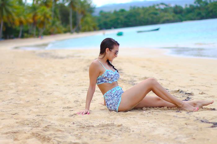 swimsuit, dominican republic, beach, retro bathing suit, swim, aviators