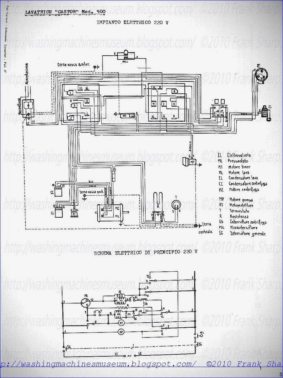 Washer Rama Museum  CASTOR MOD 500 SCHEMATIC    DIAGRAM