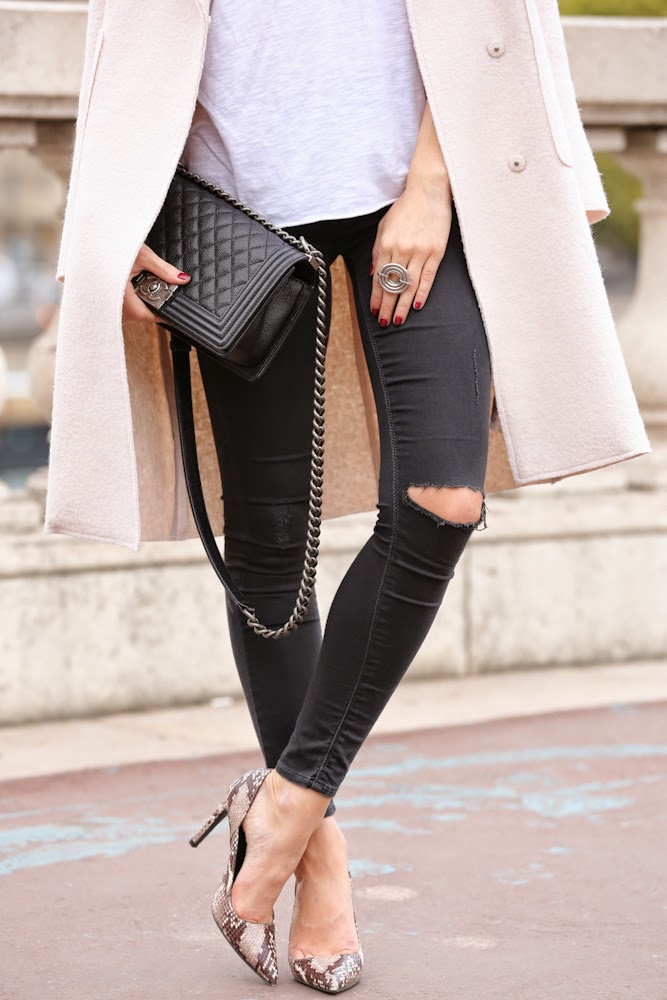 zara, ripped jeans, topshop, chanel, bir hakeim, lara bohinc, streetstyle, fashion blogger, outfit, look du jour