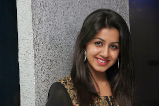Nikki Galrani in Black and Red anarkali Suit at Darling movie Audio Launch Event
