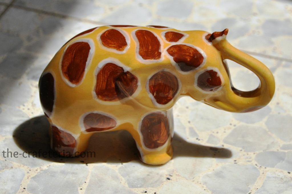 Ceramic Giraffe Elephant