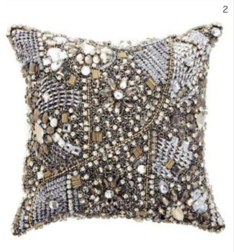 Modern Classics Layered Jewel decorative pillow