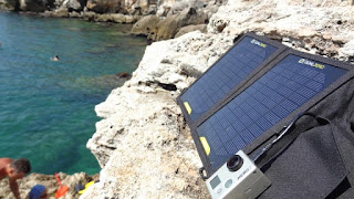 Portable Solar Panel Charging GoPro HD Camera