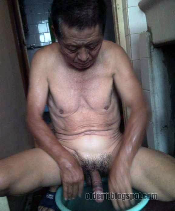Naked Chinese Dad Cock