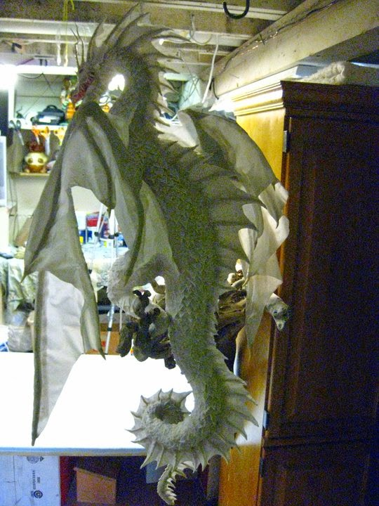 White wolf paper mache artist creates amazing dragons for How to make a sculpture out of paper mache