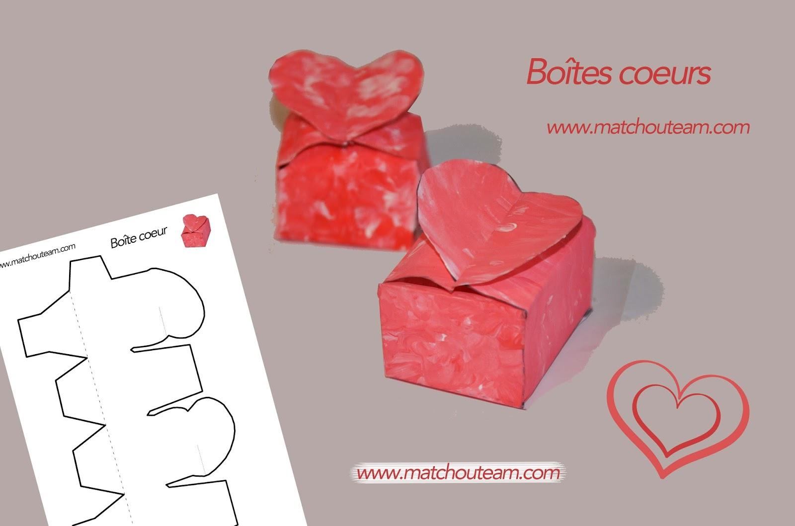 boîte saint Valentin pour petit cadeau
