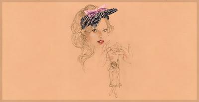 Cedric Rivrain  dessin illustration de mode poétique vanessa lekpa