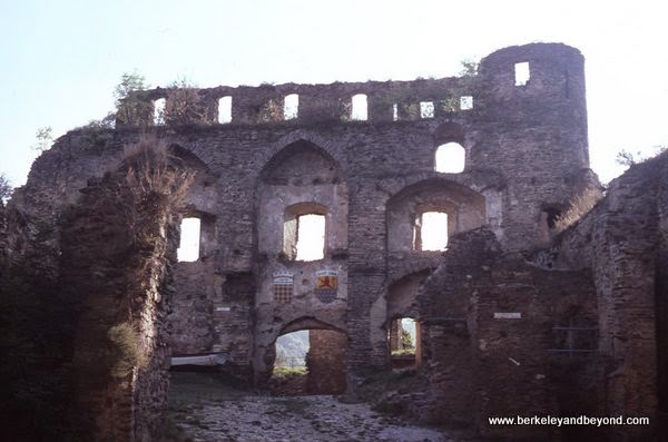 castle ruins at Schloss Rheinfels in Schlossberg, Germany