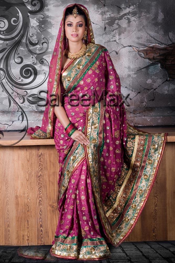 Bridal Sarees with Dupatta ~ Bridal Wears