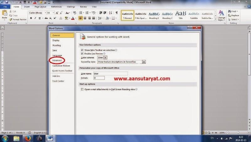 Trik Merubah Ukuran Margin Dari Inchi Ke Centimeter Pada Microsoft Office Word 2010
