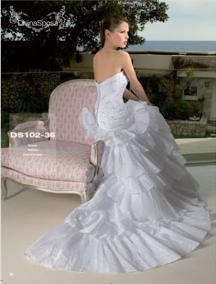 White+Strapless+Ball+Gown+Silhouette+Floor+Wedding+Dresses