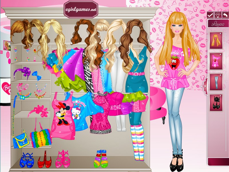 Play Free Dress Up Barbie Fashion Games Players can dress up their