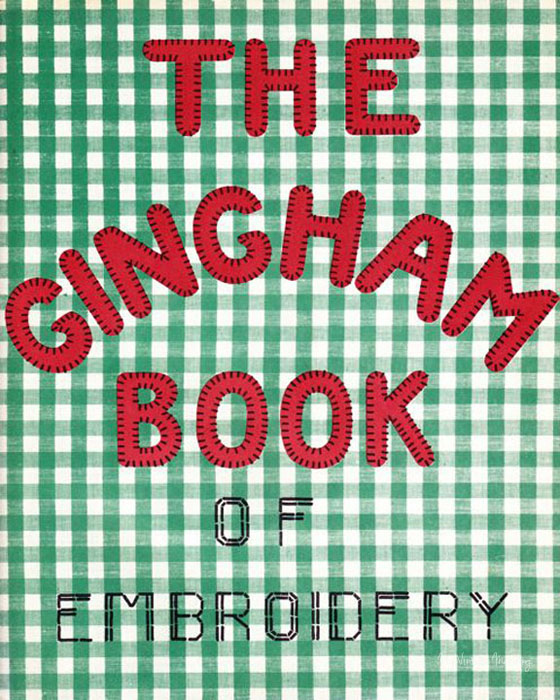 My vintage mending gingham book of embroidery