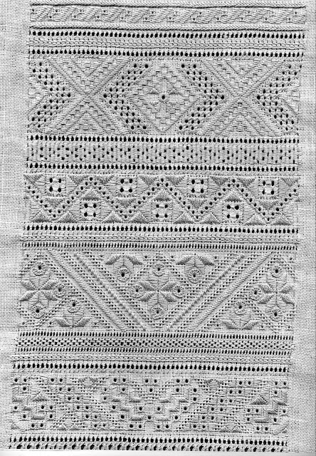 Folkcostume embroidery whitework of sniatyn