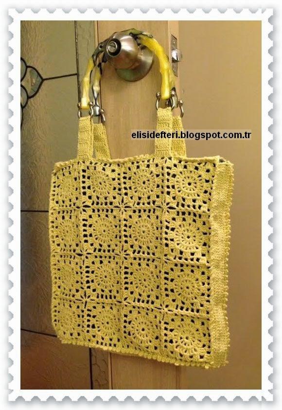 tığ işi yazlık çanta