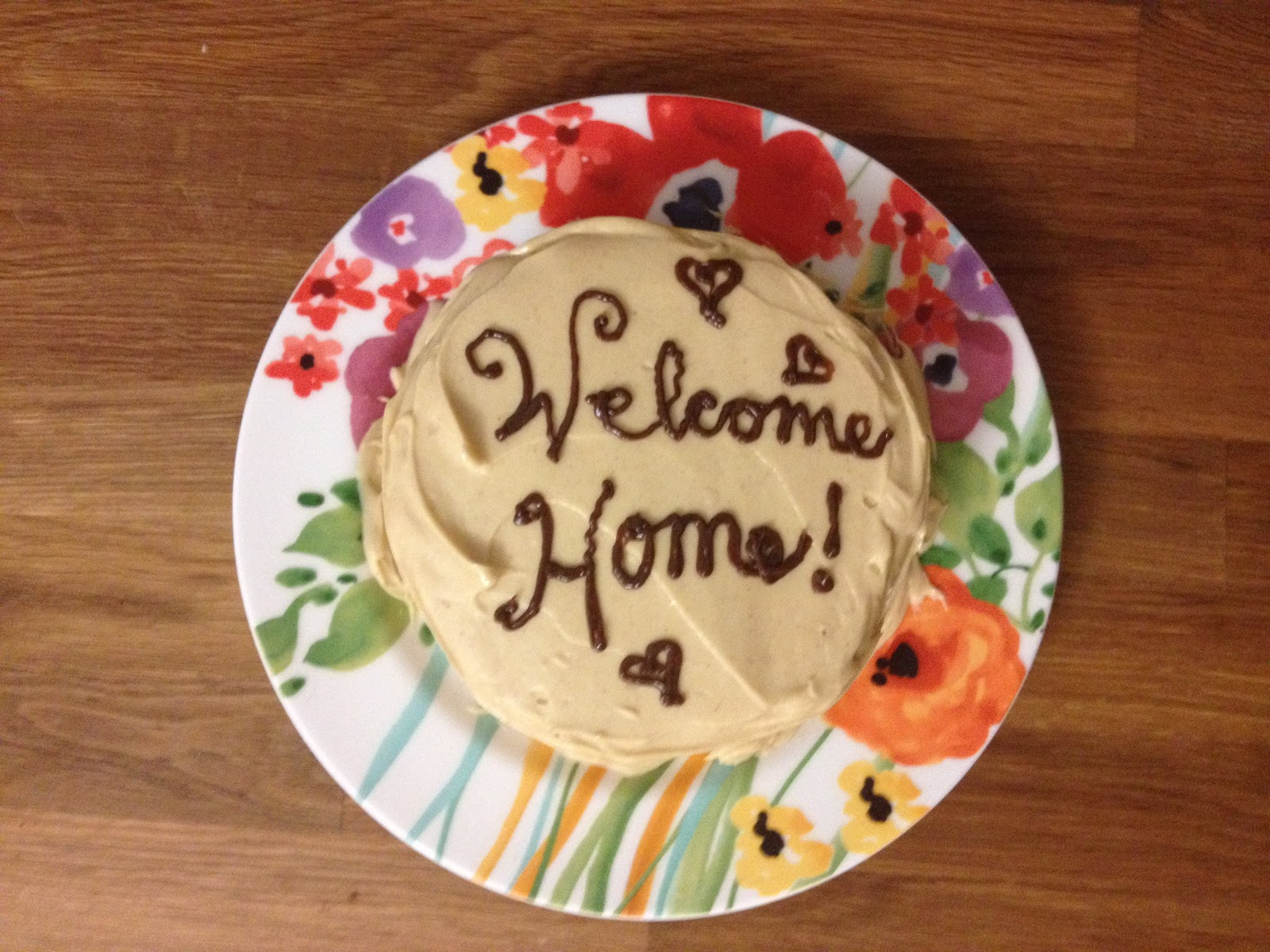 The baking yogi a welcome home cake for Welcome home cake decorations