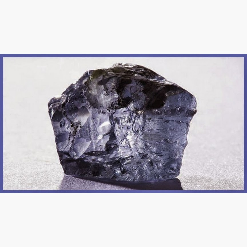 Exceptional Blue Diamond Rough weighing 29 carats has been found in Cullinan Mine in South Africa. Photo courtesy : Petra Diamonds