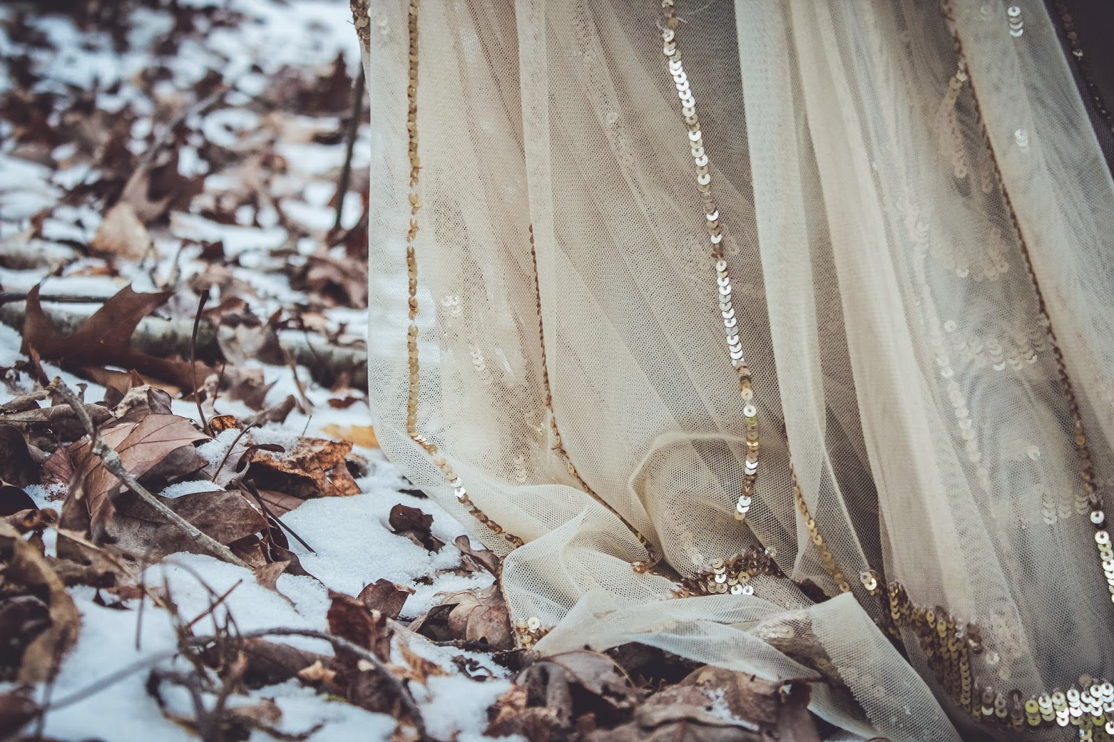 are we out of the woods yet snow georgia outdoors winter photography trees whimsical princess skirt dress sparkle leaves