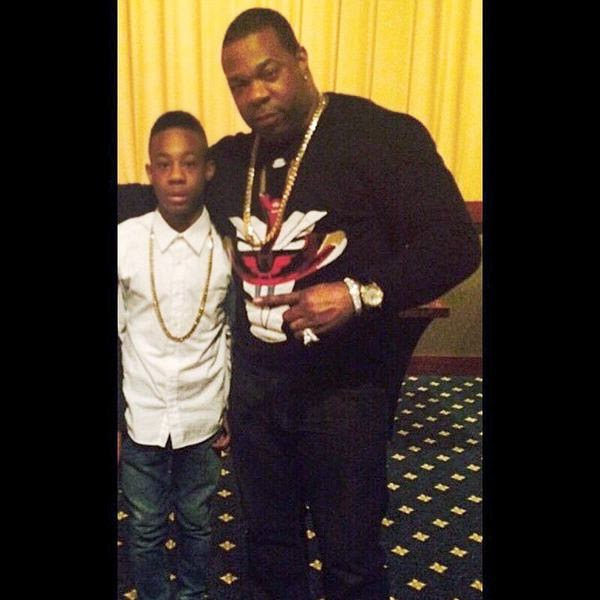 Photo of Busta Rhymes & his  Son  Trillian Wood-Smith