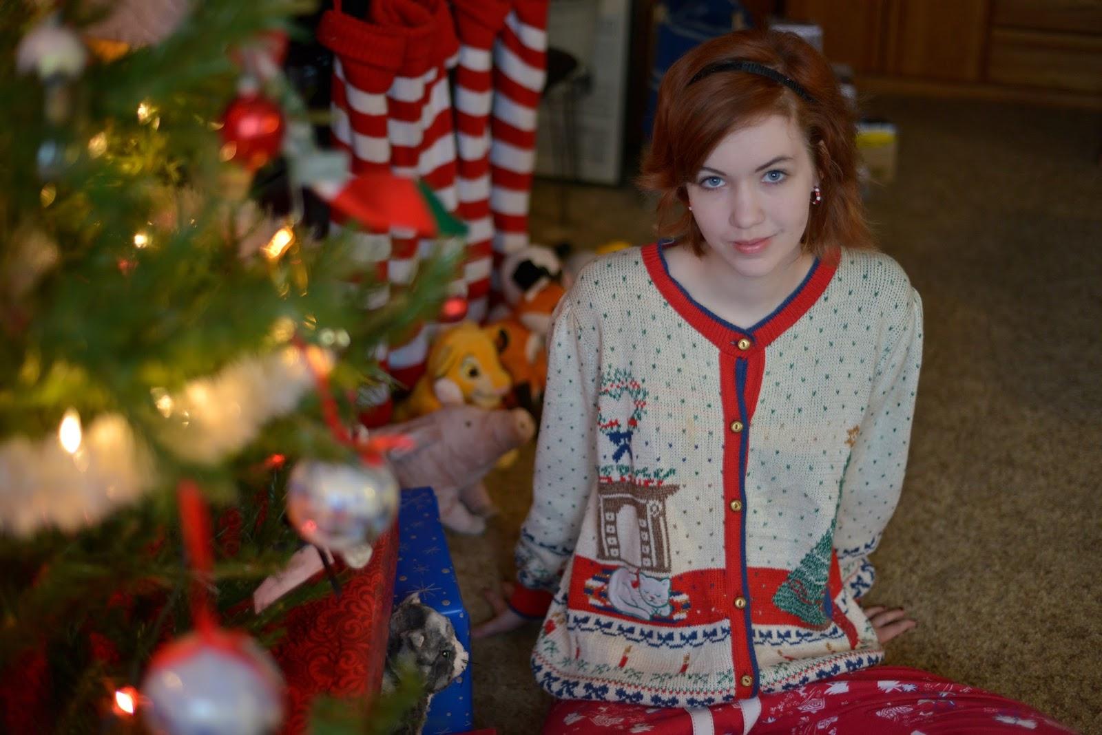 Ugly Christmas Sweater winner girl