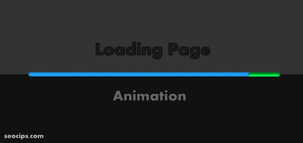 Membuat Animasi Loading Page Dark Style di Blog