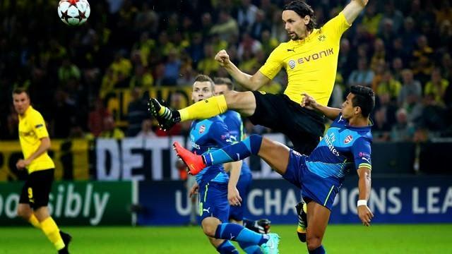بوروسيا دورتموند يفوز على ارسنال في دوري الابطال