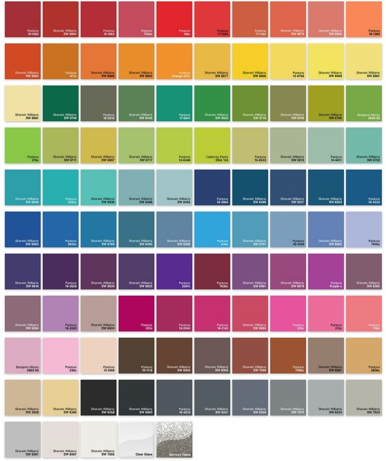 Color+Plus color chart