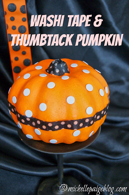 Washi Tape & Thumbtacks Pumpkin