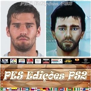 Alisson Becker (Internacional) e Brasil PES PS2
