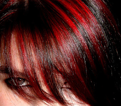 pictures of dark brown hair with red highlights