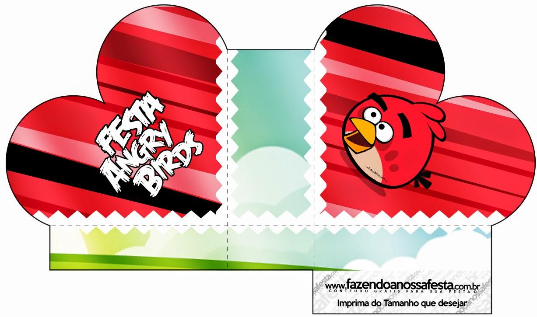 Caja abierta en forma de corazón de Angry Birds.
