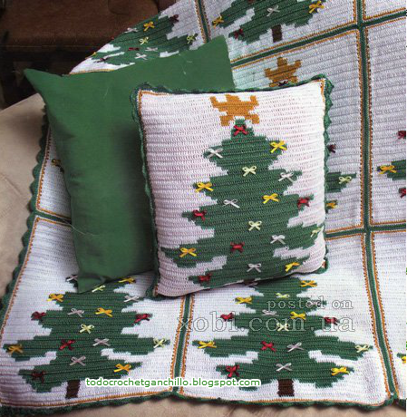 Diseños de navidad: patrones de pino y video