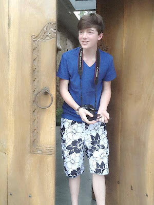 Greyson Chance wearing Short Pants in Bali 201