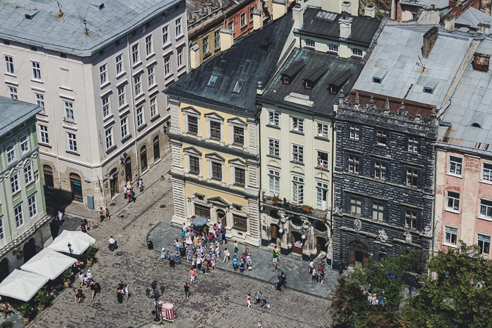 Lviv in the summer Ukraine