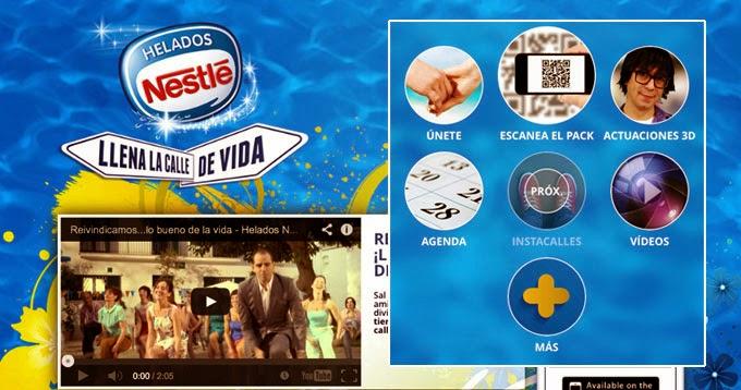 Llena la calle de vida, la aplicación de Nestlé