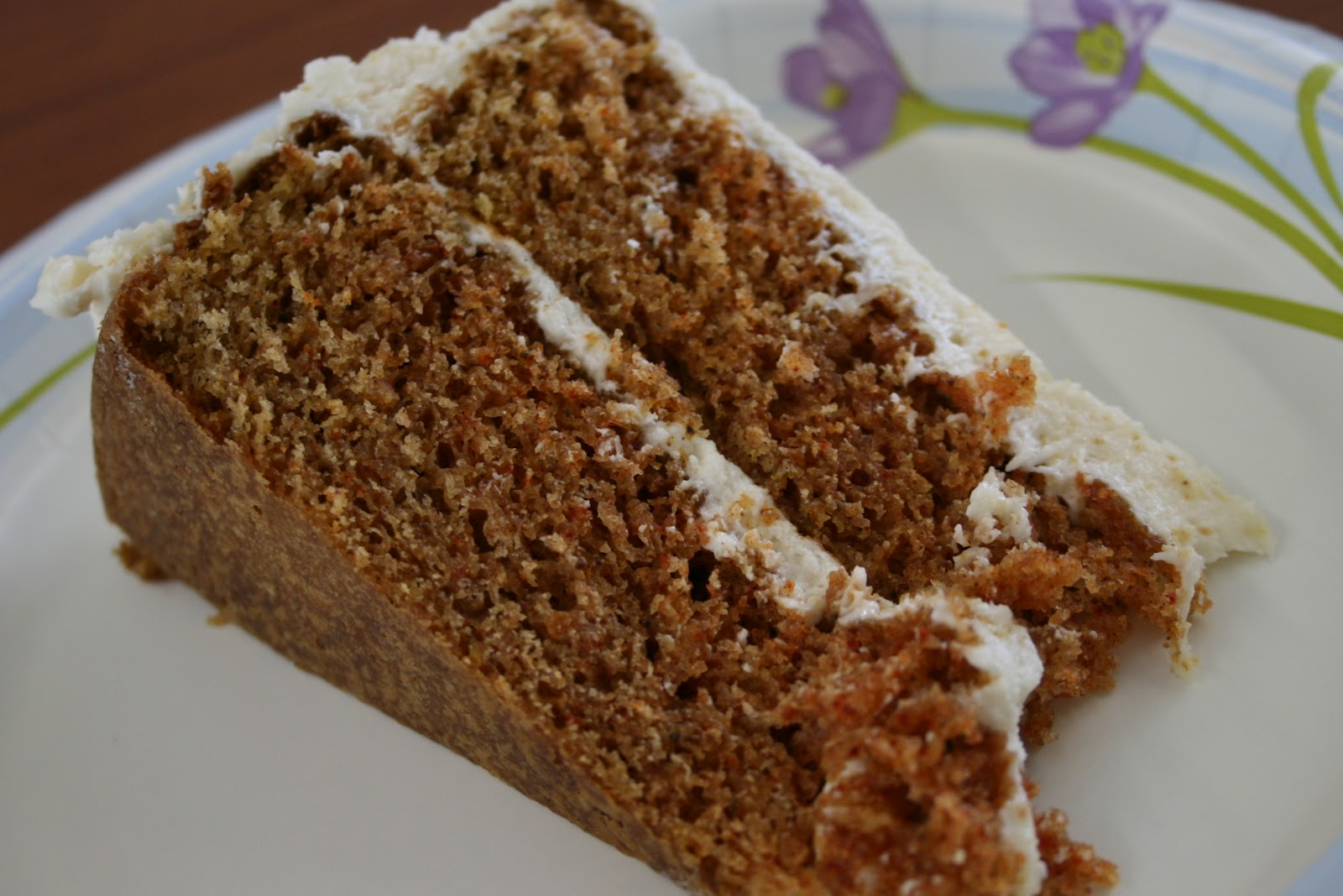 Sour Cream Spice Cake With Orange Butter Frosting