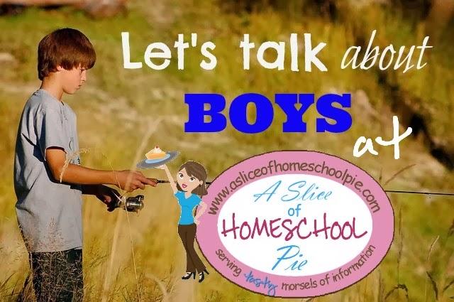 Raising Boys - Let's Talk About Boys at ASliceOfHomeschoolPie.com #boys #parenting #raising boys