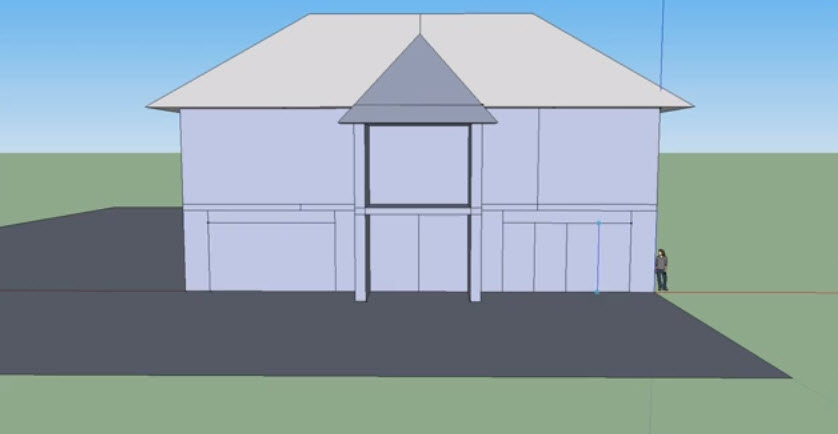 How To Drawing A Simple 3d House And Faster With The