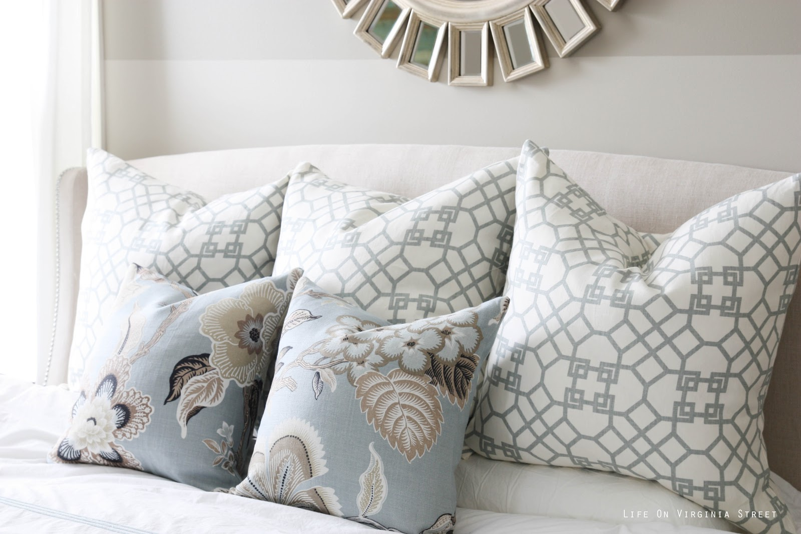 Throw Pillow Fabric Ideas : Tried and True...Celerie Kemble s Hot House Flowers Fabric - Sita Montgomery Interiors