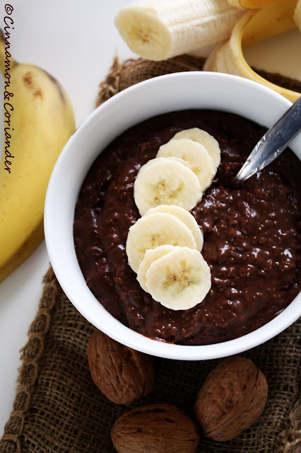 Brownie Batter Banana Morning Oats